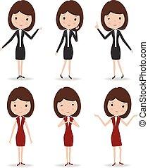 女, character., ビジネス