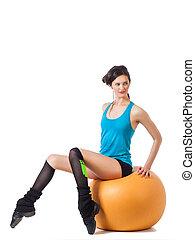 女, fitball, モデル