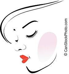 女, lipstic, 身に着けていること, 流行, 赤