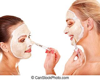 女, mask., 美顔術, 得ること