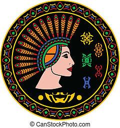 女, mayan, 象形文字