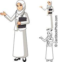 女, muslim, 医者