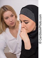 女,  muslim, 絶望