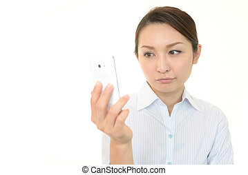 女, smartphone