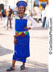 女, tradional, アフリカ, 服装
