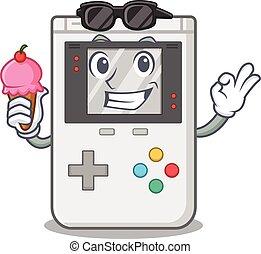 奶油, 游戏, 卷, 冰, 手提式, 卡通漫画, 开心