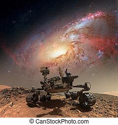 好奇心, 表面, mars., ローバ, 探検