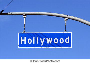好萊塢林蔭大道, 路牌, 洛杉磯, 加利福尼亞, usa.