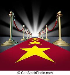 好萊塢, 紅的地毯, 由于, 星