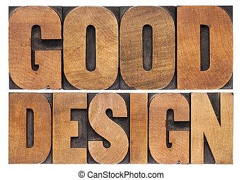 好, 設計, 在, 木頭, 類型