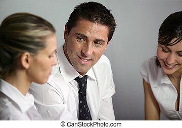 妇女, 会议, 二, 企业家