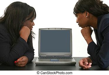 妇女, 计算机, 队