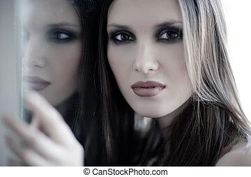 妇女, 镜子