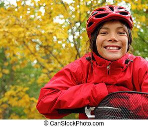 妇女, 骑车