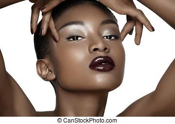 妇女, african, 美丽