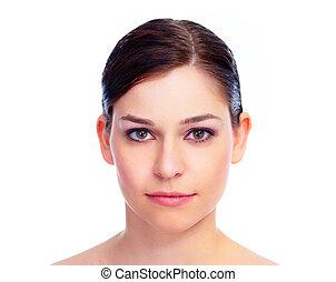 妇女, face., 美丽