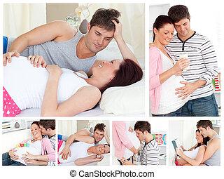 妊娠している1対, コラージュ