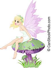 妖精, きのこ
