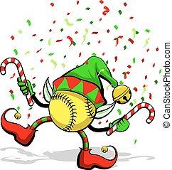 妖精, クリスマス, ソフトボール