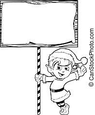 妖精, クリスマス, 保有物, 印