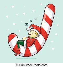 妖精, クリスマス, 睡眠