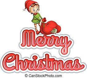 妖精, クリスマス, 陽気