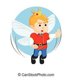 妖精, デザイン, 王子, イラスト