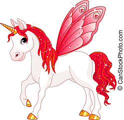 妖精, 尾, 馬, 赤