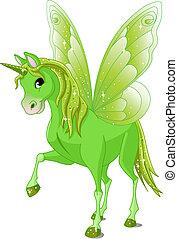 妖精, 尾, 馬