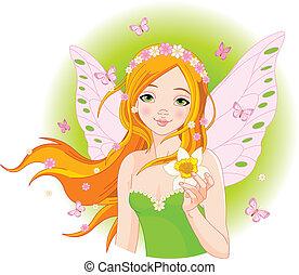 妖精, 春, スイセン