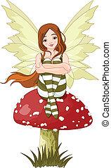 妖精, 森林, 若い