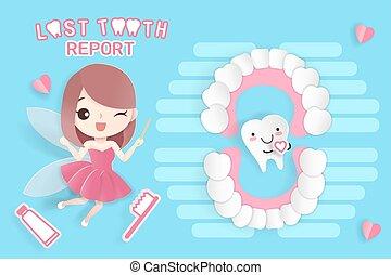 妖精, 歯, 歯