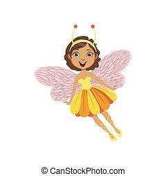 妖精, 特徴, 特徴, girly, かわいい, 昆虫, 漫画