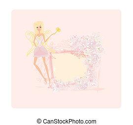 妖精, 細い棒, マジック, 美しい