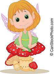 妖精, mushr, モデル, かわいい, 漫画