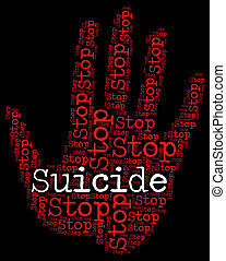 妨げなさい, 生活, 自殺, 手段, 取得, 止まれ, あなたの