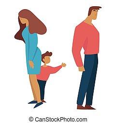 妻, 離婚, 保護, 前, 子供, 夫, 子供