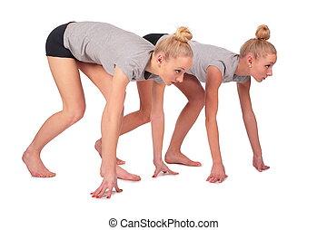 始めなさい, sideview, スポーツ, twin, 女の子
