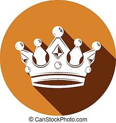 威厳がある, 流行, 王冠, 3d
