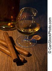 威士忌酒, 以及, 雪茄