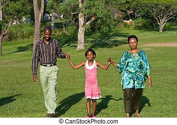 娘, 公園, 家族