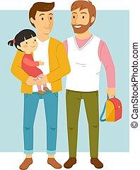娘, 同性愛, 親, ∥(彼・それ)ら∥