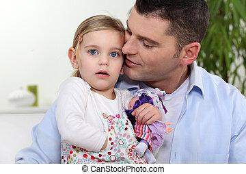 娘, 彼の, 父