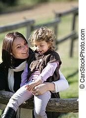 娘, 彼女, 出費, 時間, 田舎, 母, 品質