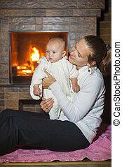 娘, 暖炉, 母