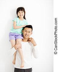 娘, 父, 一緒に, 楽しみ, 持つこと, 幸せ