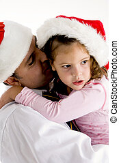 娘, 父, 抱き合う