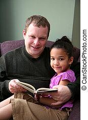 娘, 読書, 父