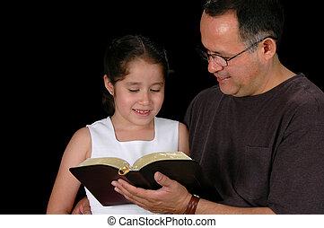 娘, 読書, 父, 聖書