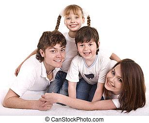 娘, son., 父, 母, family:, 幸せ